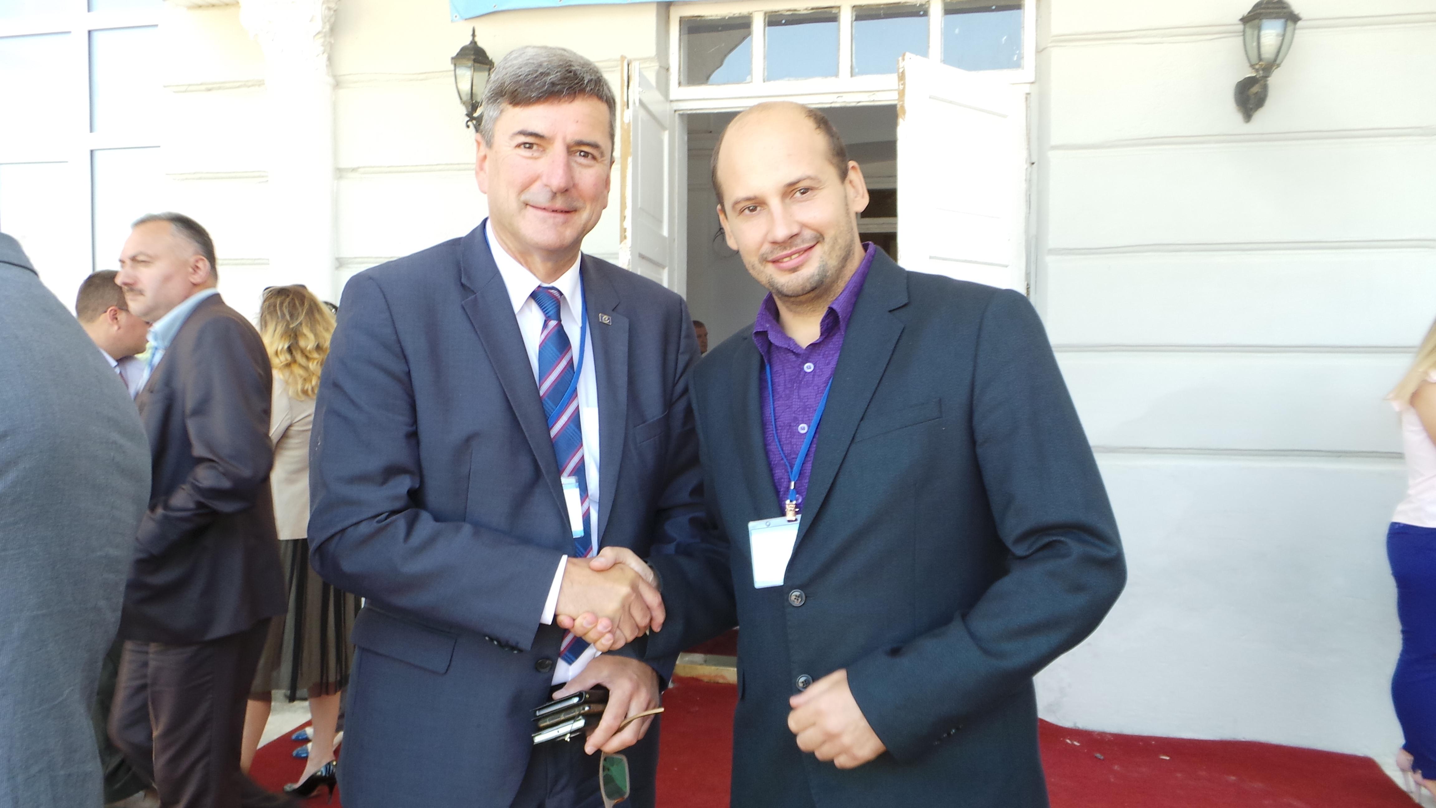 Andreas Kiefer та Вадим Торопов (Київське Віче)