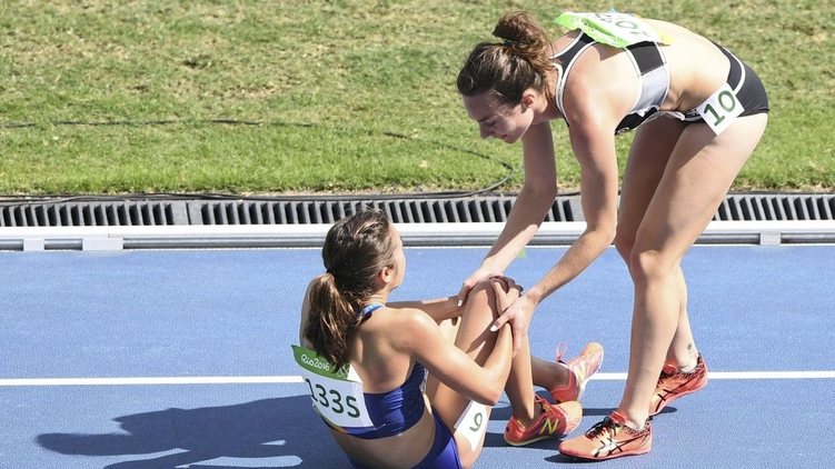 трогательный момент олимпиады