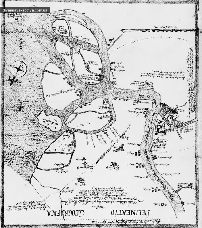 ШВЕДСКАЯ КАРТА НИЗОВЬЕВ НЕВЫ 1640-х ГОДОВ