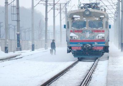 Железнодорожная платформа.